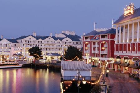 disney boardwalk inn villas by night