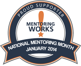 proud supporter - mentoring month - january 2014