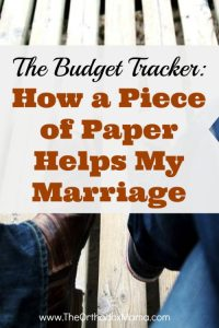 Budget Tracker: How a Piece of Paper Helps My Marriage