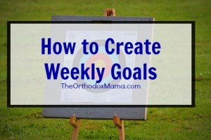 How to Create Weekly Goals