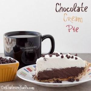 #Chocolate #Cream #Pie from OrWhateverYouDo.com