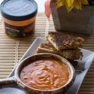 Grown up Grilled Cheese and Tomato Sweet Basil Soup