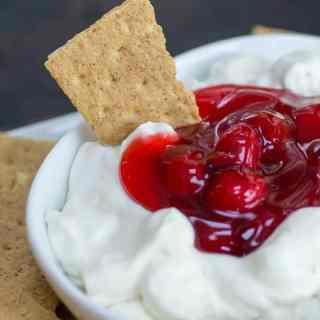 Easy Fluffy Cherry Cheesecake Dip