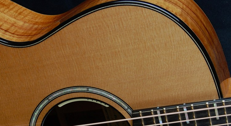 Hand Made Damselfly Guitar in Koa and Cedar.