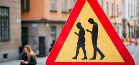 Road Signs Warn Pedestrians Not To Use Smartphones