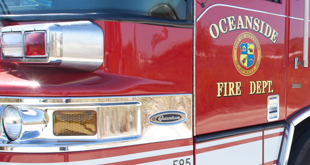 Fire Forces Evacuation from Apartments in Oceanside
