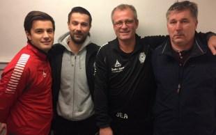 Trener- og støtteapparatet i 2017: Dino Mulac, Daniel Lubieniecki, Jan Erik Arntsen og Trond Sundwall