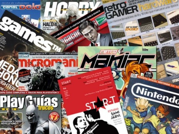 revistas videojuegos españa e1353321276356 Periodismo y Videojuegos: Evitando el Game Over, documental sobre el periodismo de videojuegos español
