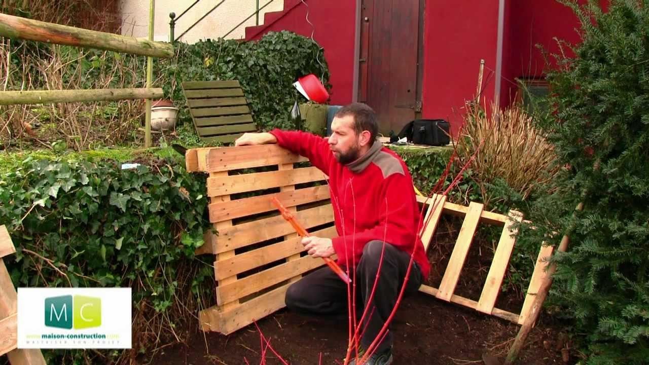 Comment r aliser un composteur de jardin avec des palettes bois de r cup ration mega tuto - Maison avec un jardin tourcoing ...