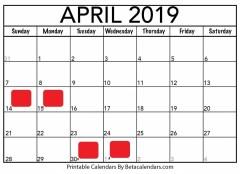 April-2019-Calendar-Printable