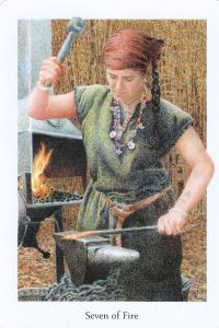 Seven of Fire, Gaian Tarot