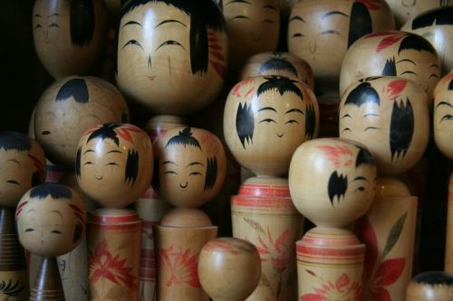 Japanese Wooden Dolls