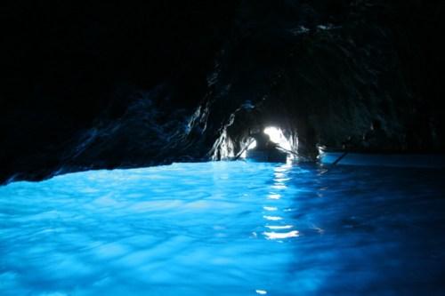 Inside the Blue Grotto on Capri