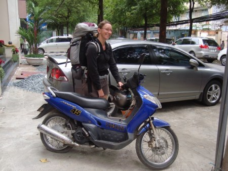 Me and my motorbike - and one flat tire...