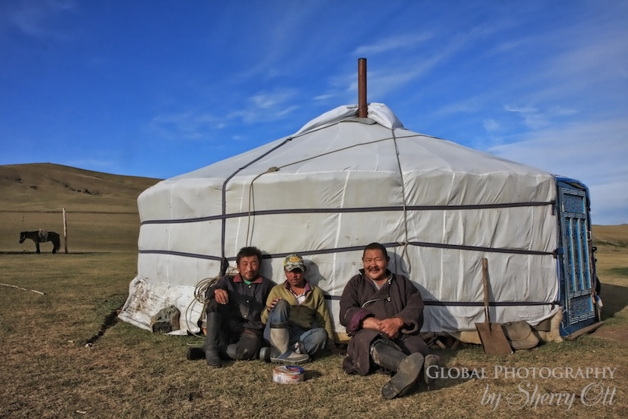mongolian men and ger