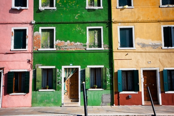 colored houses burano