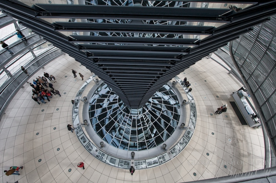 View from the top of the spiral