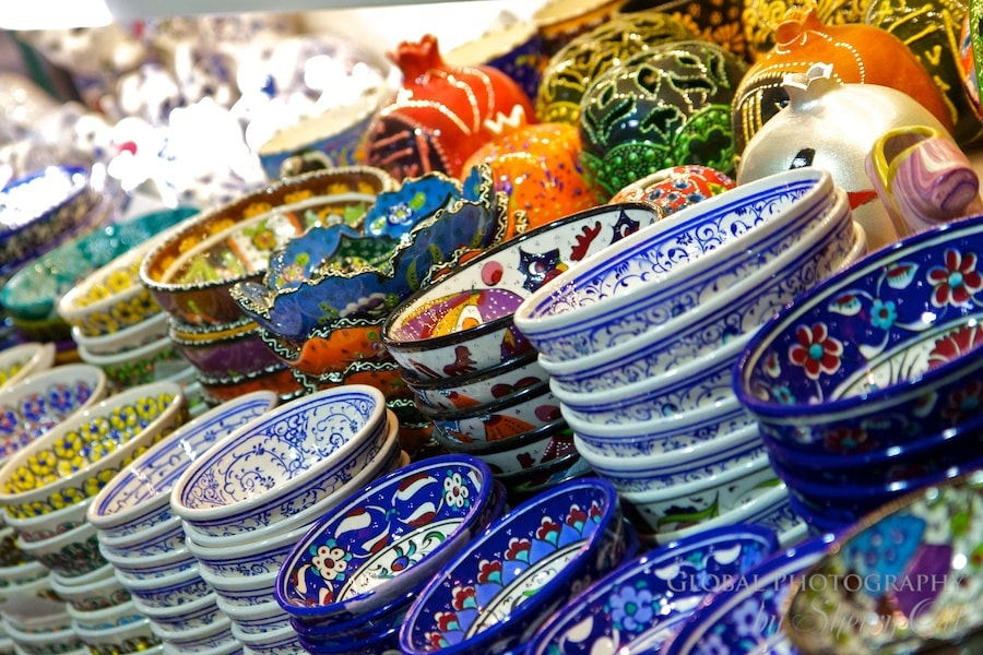 Turkish bowls with intricate designs