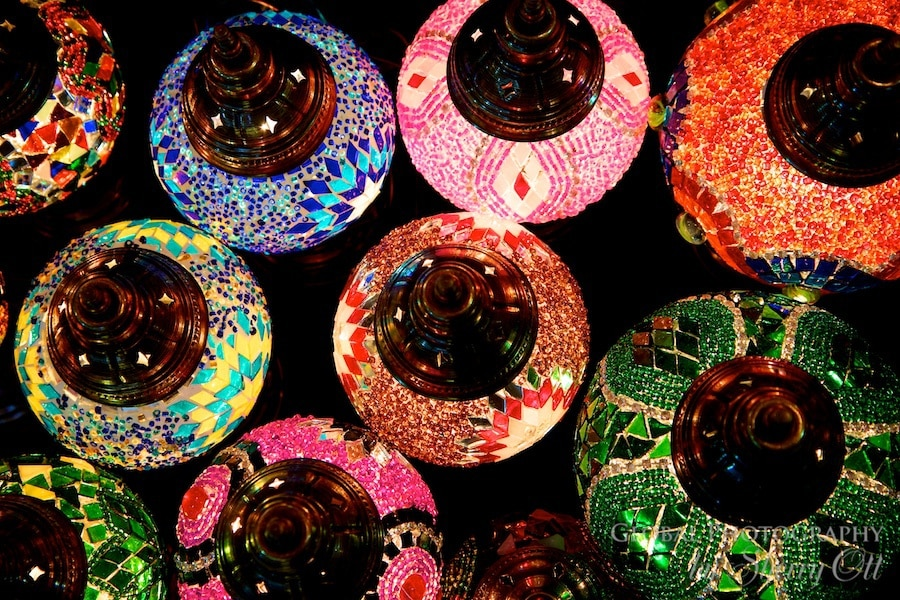 Colorful lamps of the Grand Bazaar