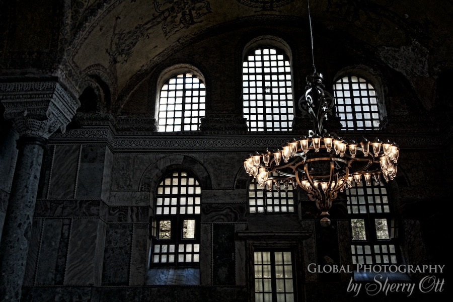 Silhouette windows in Hagia Sophia