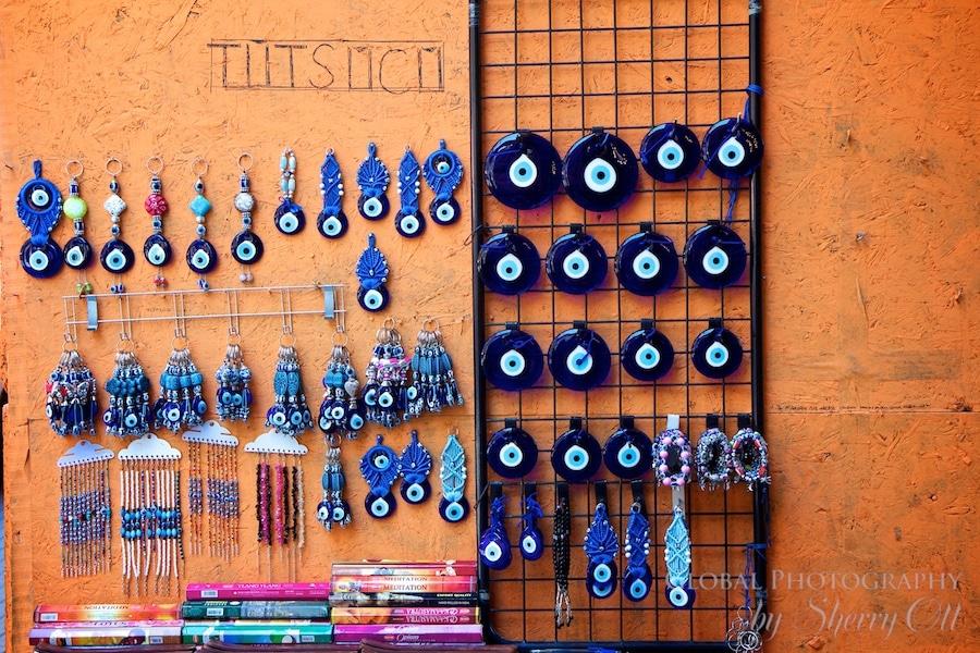 Evil Eyes for sale on Istiklal St.