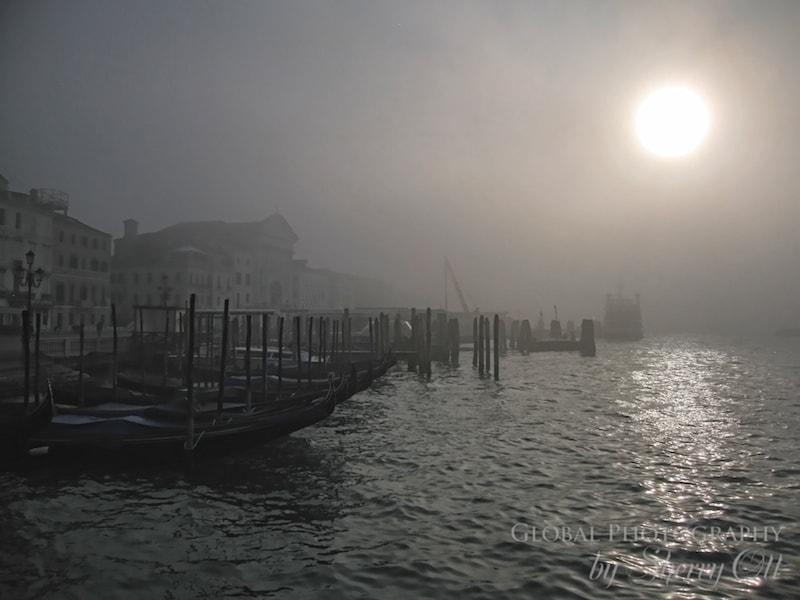 Venice fog grand canal