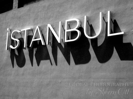 Istanbul modern art museum sign