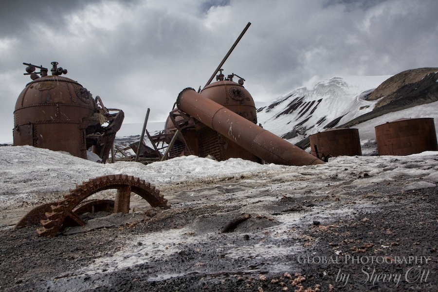 sunken machinery