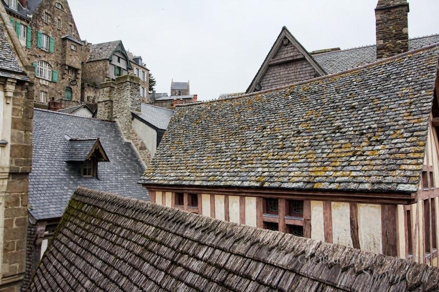 Rooftops mont saint michel