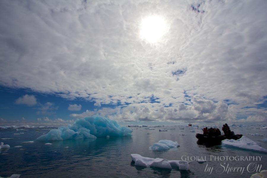 iceberg sunset