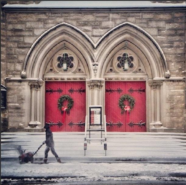 Red door snow nyc
