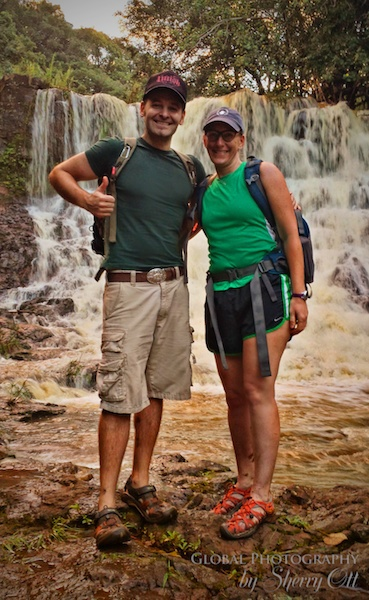 Patrick and me at Hoopii Falls