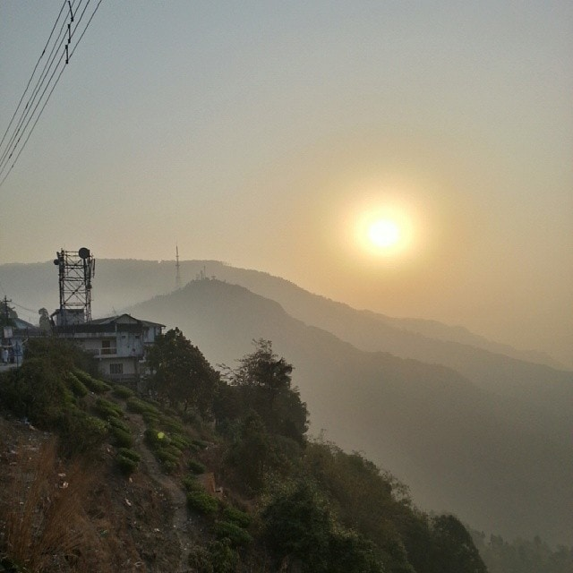 Sunrise in Kurseong on the Rickshaw Run in India