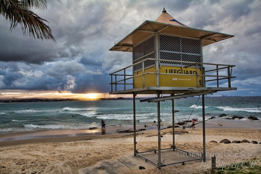 Lifeguard sunset