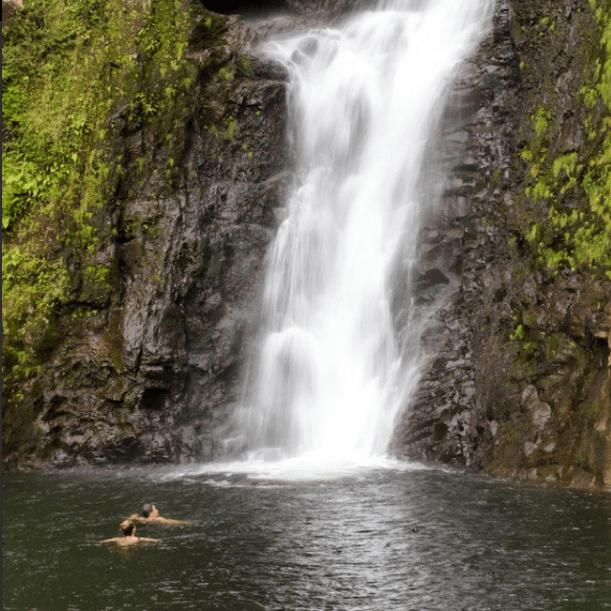 Molokai island waterfall