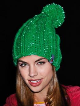 Neon groene muts breien