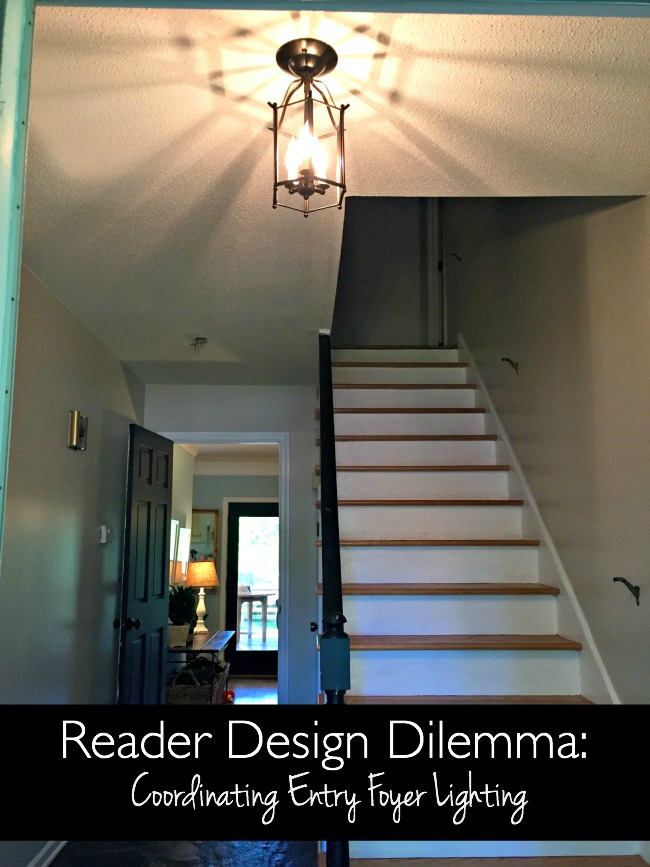 Foyer Lighting Jobs : Design dilemma coordinating entry foyer lighting our