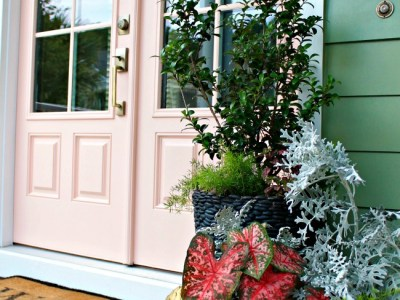 Front Door Makeover with Schlage & a Giveaway