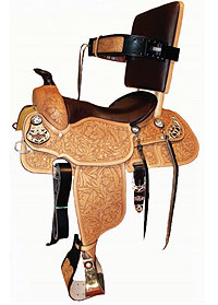 Handicapped saddle