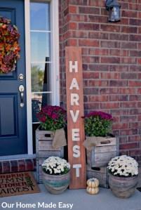 Harvest DIY Fall Sign