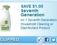 New $1.00/1 Seventh Generation Product Printable Coupon