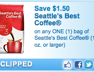 $1.50/1 Seattle's Best Coffee Printable Coupon
