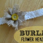 Burlap Flower Headband Tutorial