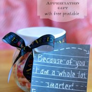 Teachers Appreciation Gift with Free Printable Tag