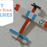 DIY Craft Stick Planes Inspired by Disney Planes