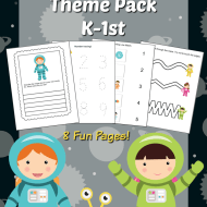 Space Themed Printables