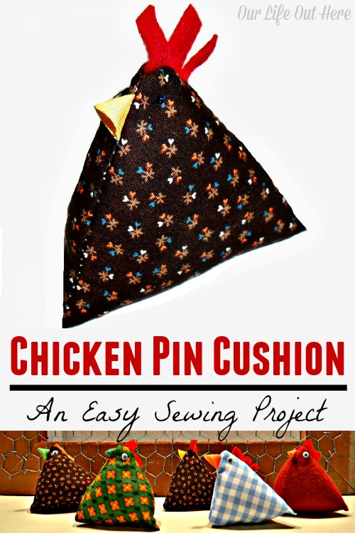 If you're looking for a beginner sewing project, these are a great place to start! They're easy and super cute! #chickens #sewing #easysewing