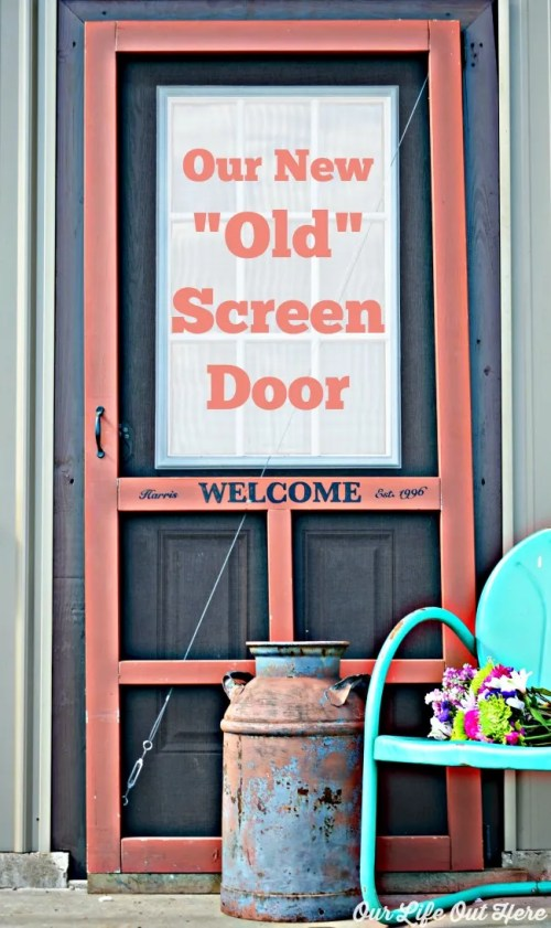 This is a great way to add character to any screen door. #screendoor #countryliving www.ourlifeouthere.com