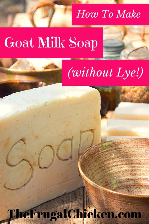 This Goat Milk Soap contains oatmeal to gently exfoliate your skin and doesn't require lye! #oatmealrecipes