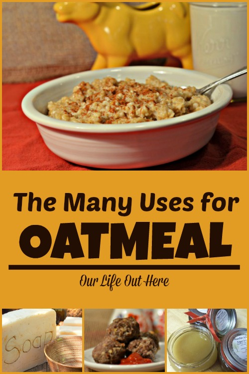 Oatmeal is healthy and inexpensive! Check out all of it's uses both in and out of the kitchen! #frugalrecipes #homemadebeautyproducts #oatmealrecipes